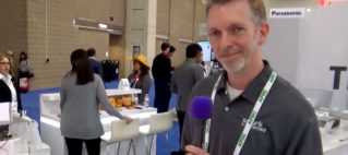 Ken Moore, wireless power solutions at APEC 2018, compatible with the Qi wireless charging protocol.