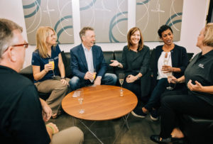 Spark Connected. Wireless power. Team Social with Ken Moore, CEO, Lexi Moore, Marina Wolf and Shamara Dassanayake. Dallas, TX