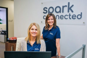 Spark Connected. Wireless power. Marina Wolf and Lexi Moore.